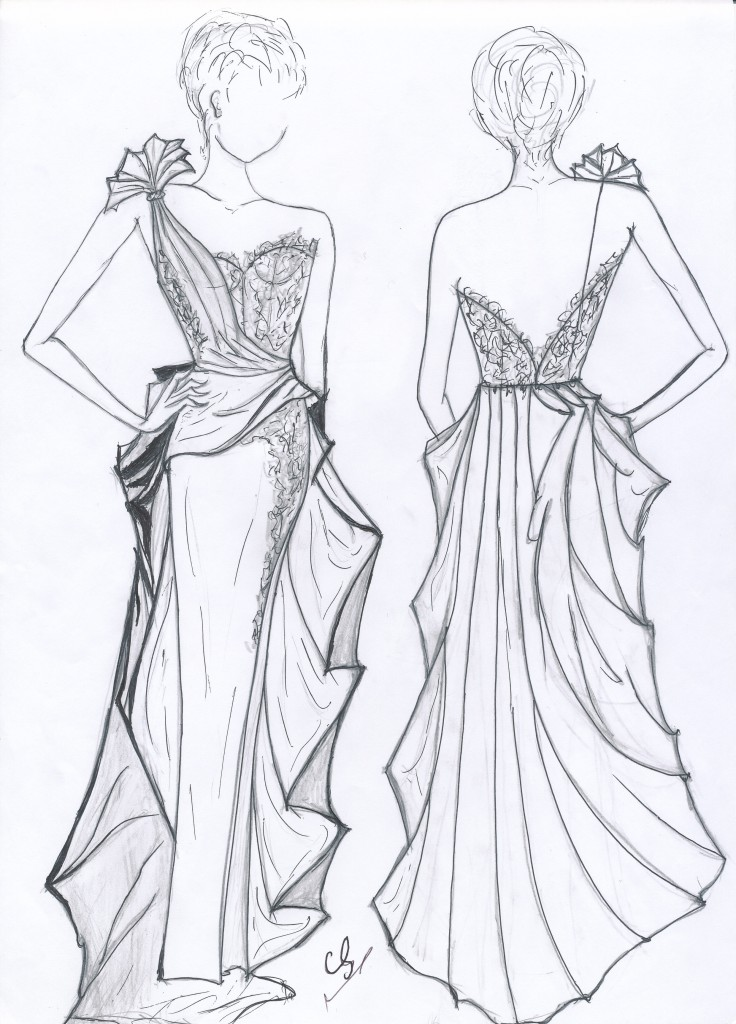 Claire sarmadi c 39 couture paris label of quality and excellence - Dessin couturiere ...